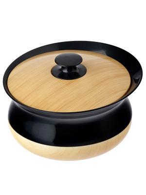 Баночка для ватных дисков VIGAR. Цвет: черный