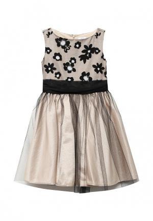 Платье Sly. Цвет: бежевый