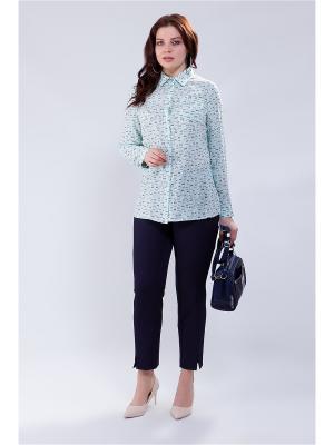 Блузка MILORI. Цвет: бирюзовый