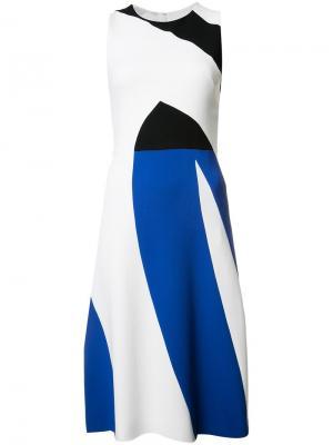 Трехцветное платье Narciso Rodriguez. Цвет: белый