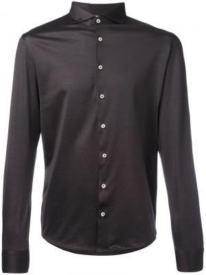 Классическая рубашка La Fileria For Daniello D'aniello. Цвет: чёрный