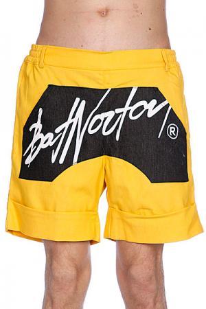 Шорты  Unisex Basic Shorts Yellow Bat Norton. Цвет: желтый,черный