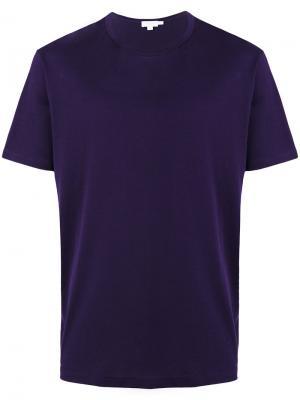 Классическая футболка Sunspel. Цвет: розовый и фиолетовый