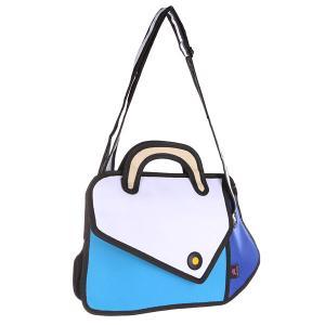 Сумка через плечо  2D For Me White/Blue/Black Jump from paper. Цвет: белый,черный,голубой