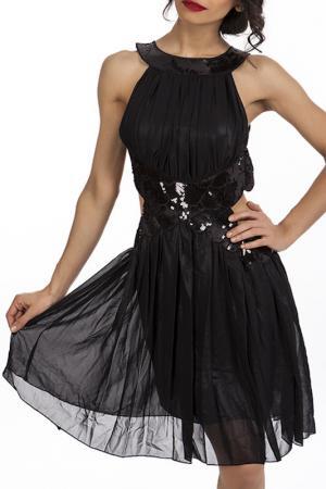 Платье Miss Pink. Цвет: черный