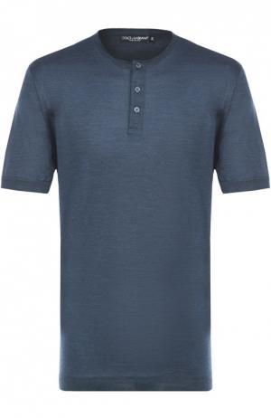 Хлопковая футболка хенли Dolce & Gabbana. Цвет: зеленый