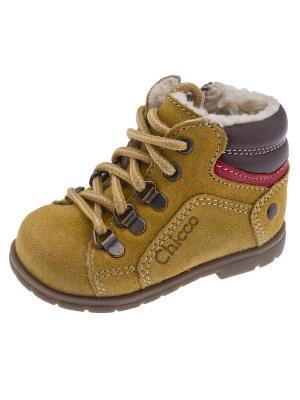 Ботинки CHICCO. Цвет: горчичный, коричневый