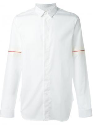 Рубашка с принтом скелета Cy Choi. Цвет: белый