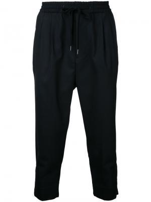 Укороченные брюки с молниями monkey time. Цвет: чёрный