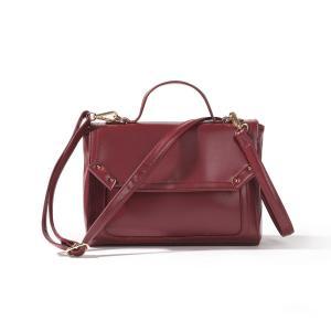 Сумка в форме портфеля La Redoute Collections. Цвет: бордовый,черный
