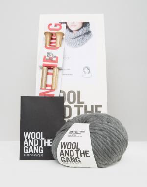 Wool and the Gang Набор для вязания шарфа-снуд &. Цвет: серый