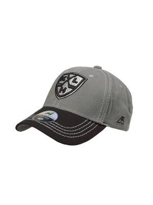 Бейсболка КХЛ Atributika & Club. Цвет: серый, черный