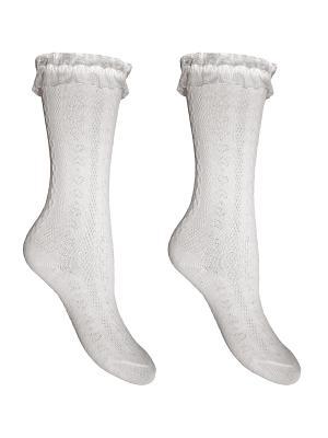 Гольфы 2 пары Master Socks. Цвет: белый