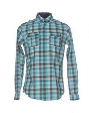Pубашка N° 4 FOUR. Цвет: бирюзовый
