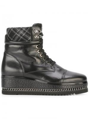 Platform lace-up boots Loriblu. Цвет: чёрный