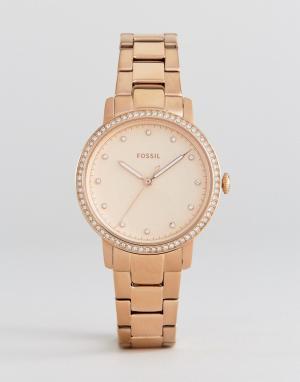 Fossil Наручные часы цвета розового золота ES4288. Цвет: золотой
