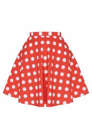 Хлопковая юбка ARnouveau. Цвет: красный, белый