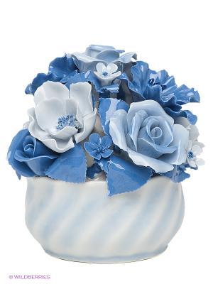 Композиция Ваза с цветами Pavone. Цвет: голубой, синий