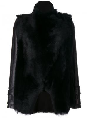 Куртка с меховыми панелями Plein Sud. Цвет: чёрный