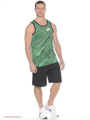 Майка RUN P REFINE TANK Nike. Цвет: зеленый