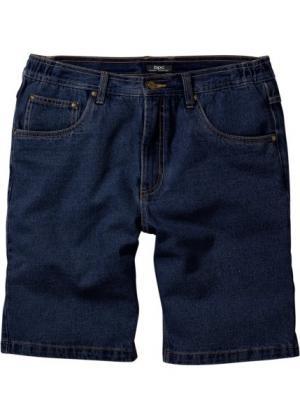 Джинсовые бермуды Classic Fit (темно-синий) bonprix. Цвет: темно-синий