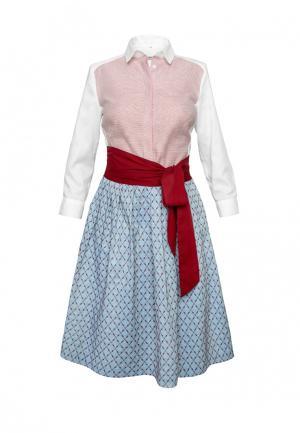 Платье Colletto Bianco. Цвет: разноцветный