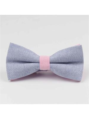 Галстук-бабочка Churchill accessories. Цвет: синий, розовый