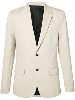 Классический пиджак Ami Alexandre Mattiussi. Цвет: телесный