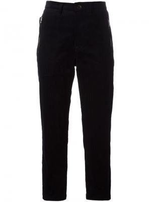 Укороченные вельветовые брюки Golden Goose Deluxe Brand. Цвет: синий