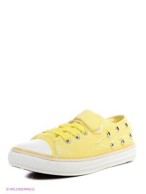 Кеды Bebendorff. Цвет: желтый