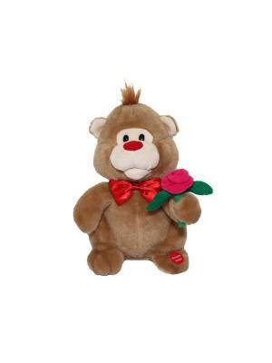 Мишка Красавчик Ваш подарок. Цвет: коричневый