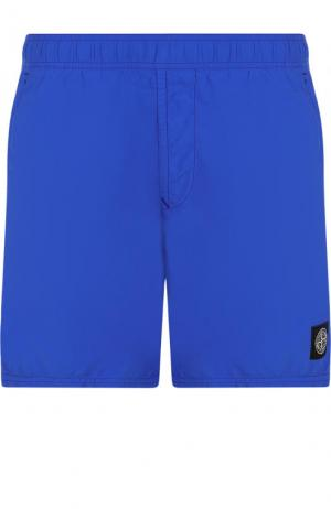 Плавки-шорты с логотипом бренда Stone Island. Цвет: синий