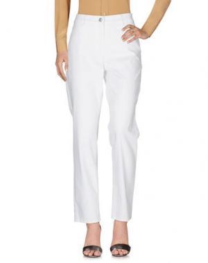 Повседневные брюки BARBARA LEBEK. Цвет: белый
