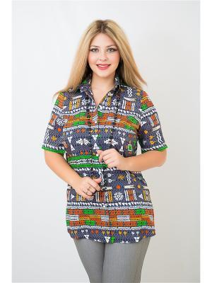 Блуза BALSAKO. Цвет: серый, салатовый