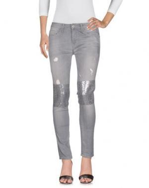 Джинсовые брюки REBEL QUEEN. Цвет: серый