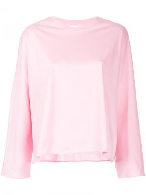 Расклешенная блузка Astraet. Цвет: розовый и фиолетовый