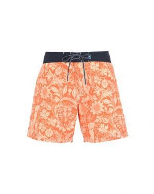 Пляжные брюки и шорты RIZ. Цвет: оранжевый