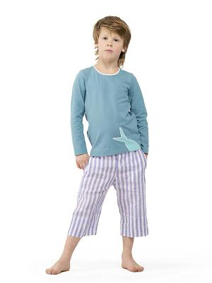 Капри Sardina Baby. Цвет: фиолетовый, белый