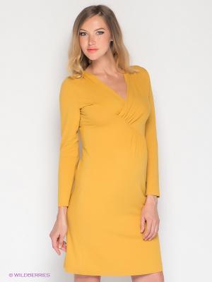 Платье UNIOSTAR. Цвет: горчичный