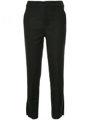 Прямые брюки Cityshop. Цвет: чёрный