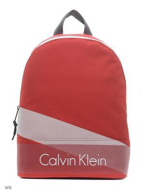 Рюкзак Calvin Klein. Цвет: красный, синий