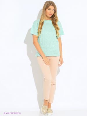 Блузка Green Tara. Цвет: бирюзовый