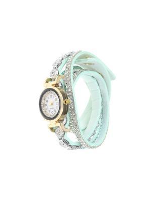 Браслет-часы Olere. Цвет: золотистый, голубой, серебристый