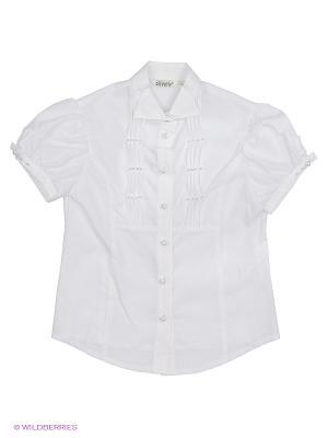 Блузка Cleverly. Цвет: светло-серый, кремовый