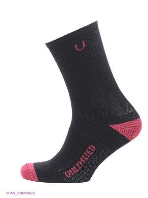 Носки спортивные 3 пары Unlimited. Цвет: черный, синий, индиго, темно-красный