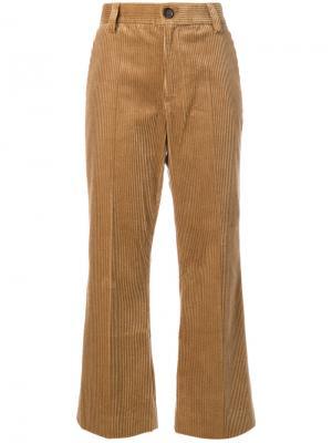 Укороченные вельветовые брюки Marc Jacobs. Цвет: коричневый
