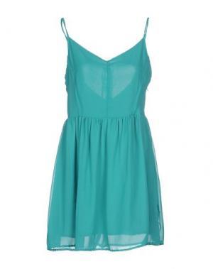 Короткое платье RISSKIO. Цвет: бирюзовый