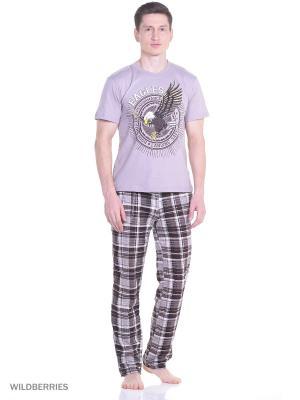 Костюм мужской(футболка, брюки) MARSOFINA. Цвет: светло-коричневый