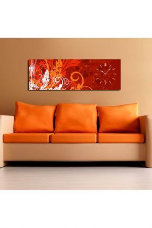 Декоративные настенные часы. Clock art. Цвет: оранжевый