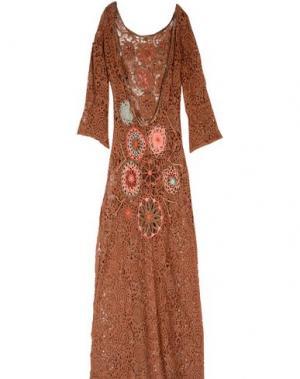 Длинное платье ANJUNA. Цвет: коричневый